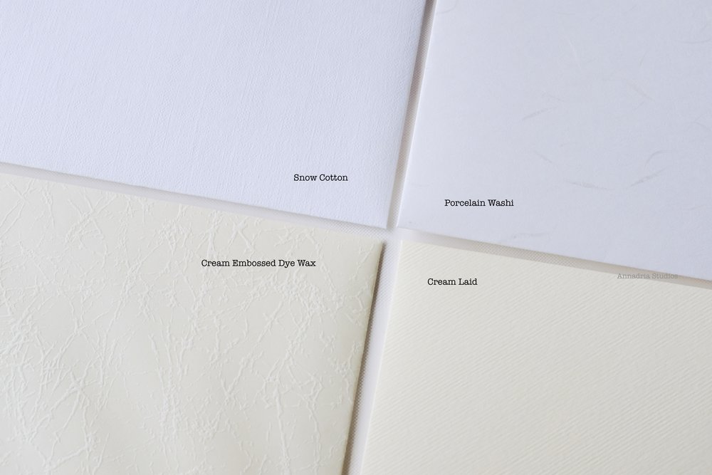 Close-up of envelope choices