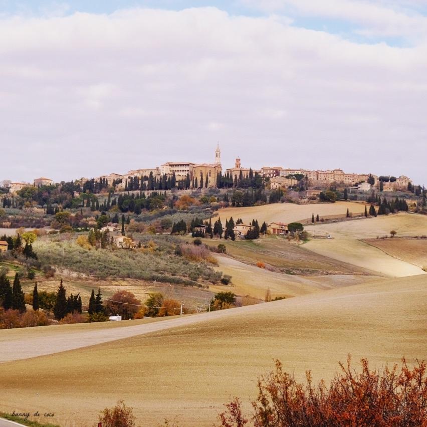 View of Pienza from below