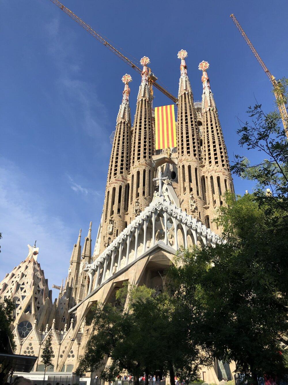 The famous La Sagrada Familia